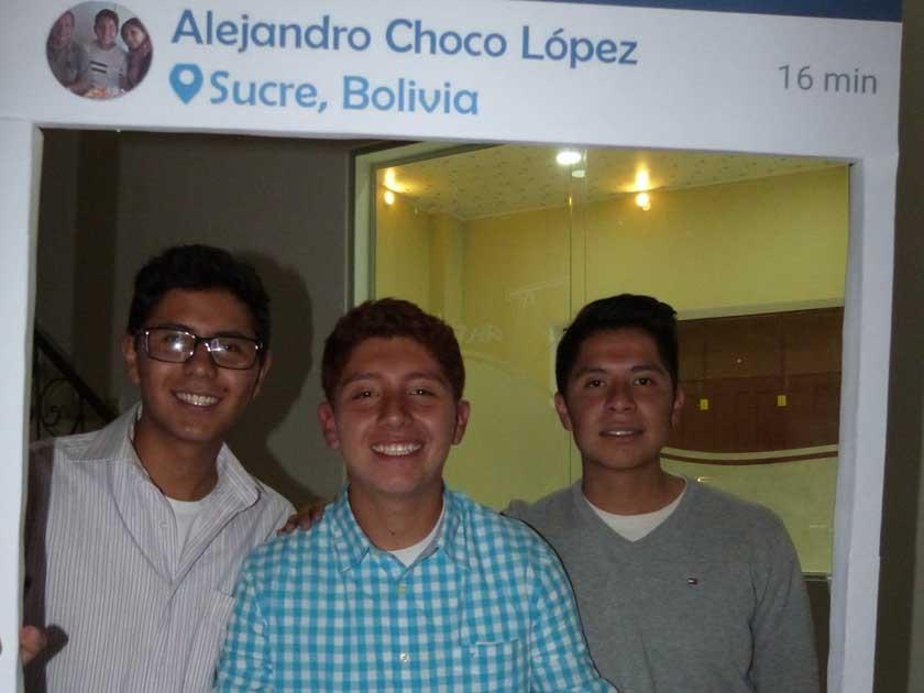 Los inseparables, Mauricio Gonzáles, Choco López y Mauricio Morales.