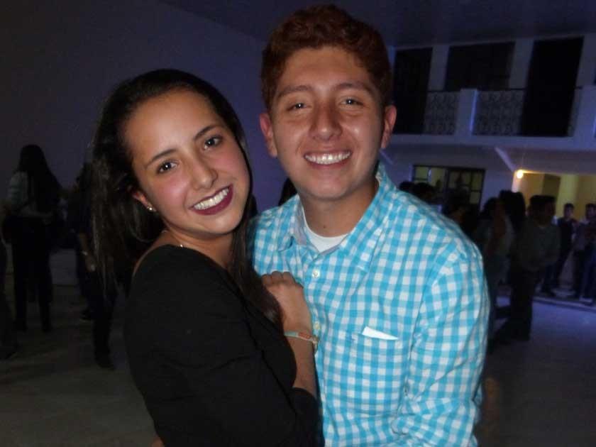 El cumpleañero con Andreita Fierro