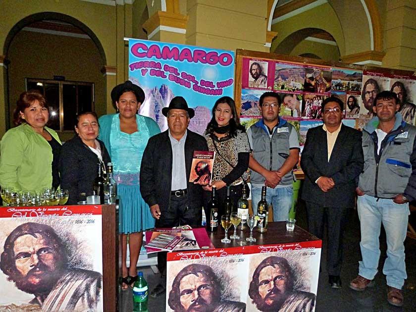 El municipio de Camargo también fue reconocido. La delegación que acompaño al Alcalde Valentín Cruz (4to de la izquierda