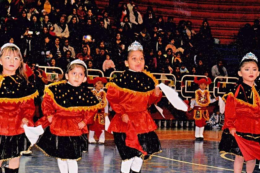 """La Sección Inicial II """"C"""" interpretó la danza altiplánica de La Diablada."""