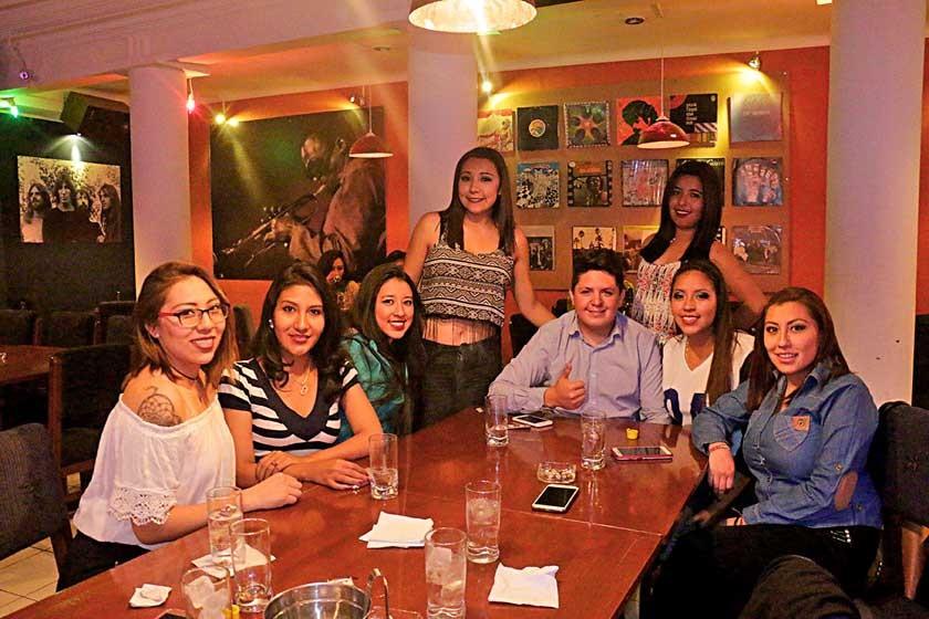 Alejandra Zárate, Manuela Choque, Naysha Cuenca, Álvaro Daza, Claudia Roca, Guadalupe Choque, Belén Miranda y Mariana Z.