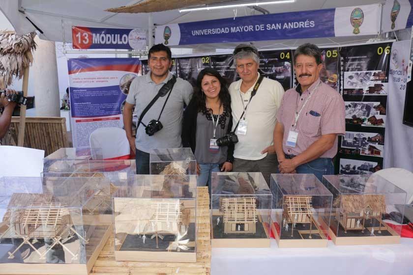 Los arquitectos de la UMSA que también obtuvieron premio.