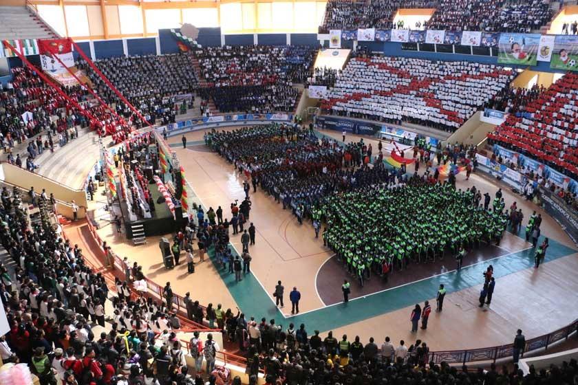 La fase departamental de los Juegos Estudiantiles fueron inaugurados ayer, en el coliseo Polideportivo de Garcilazo.