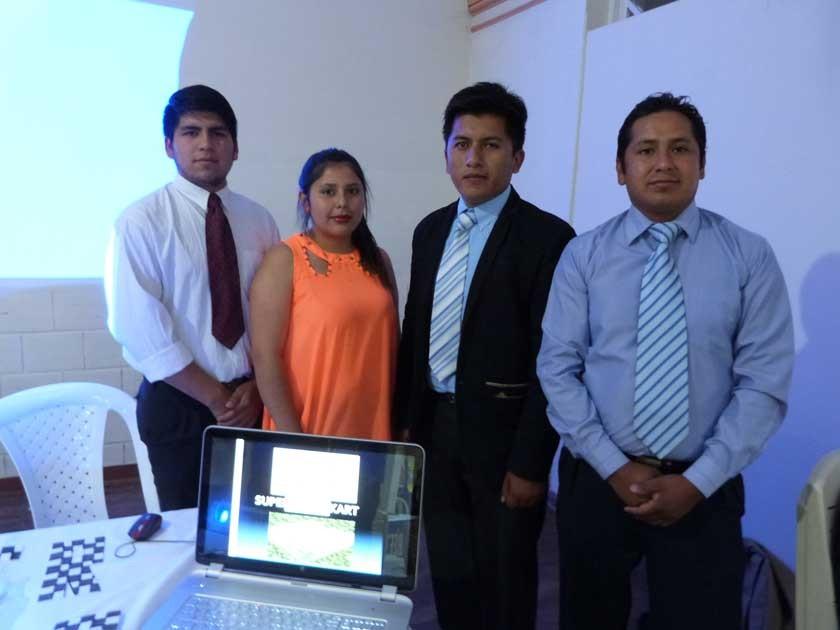 Uno de los proyectos más exitosos fue el presentado por Rider López, Jhoet Cuéllar, Rodolfo Mamani y Oscar Chojllu.