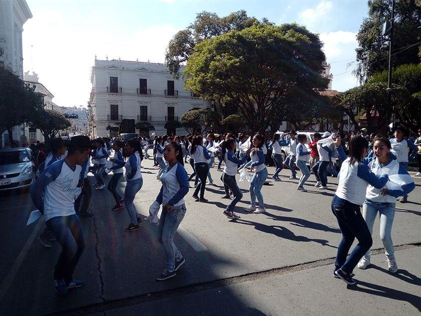 La estampa chapaca del colegio Don Bosco. FOTO: CORREO DEL SUR