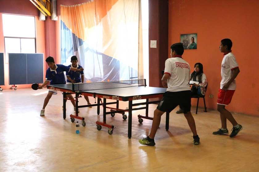 Ayer se disputó la última jornada de tenis de mesa.