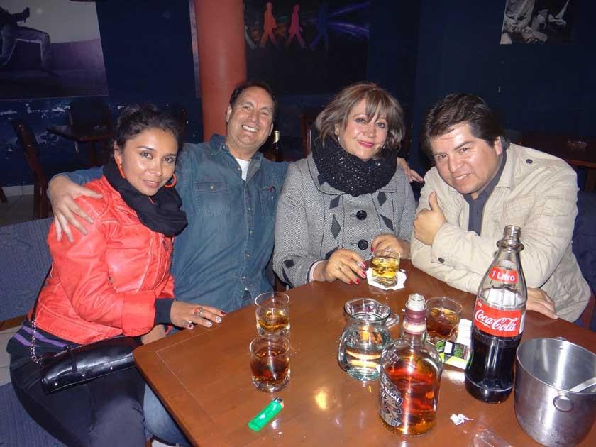 Soledad Peñafiel, Dayler Andrade, Sonia Tonelli y Gonzalo Huayllas.