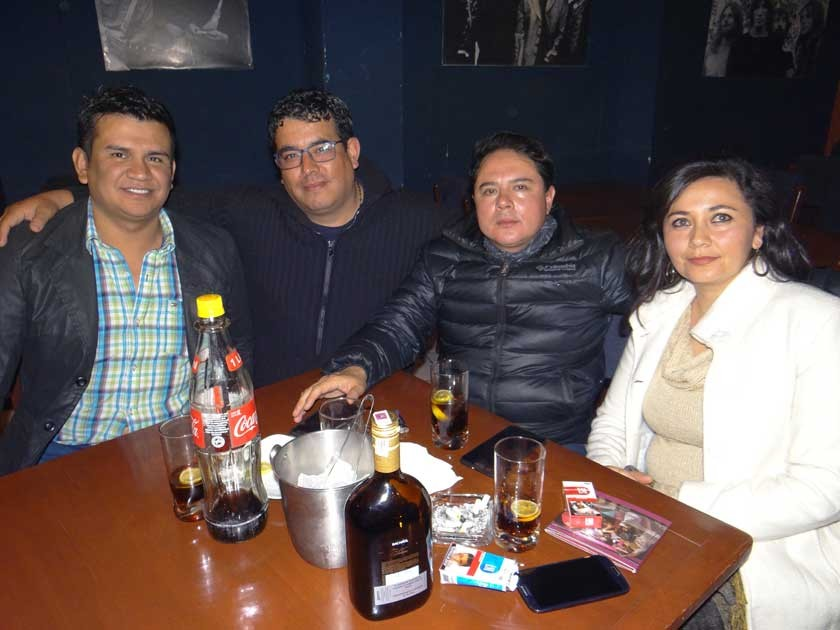 Luís Ayllón, Remy Serrano, Cristian Ballesteros y Karina Matienzo