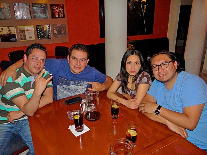 Walter, Marco, Jhovethe y Cristian.