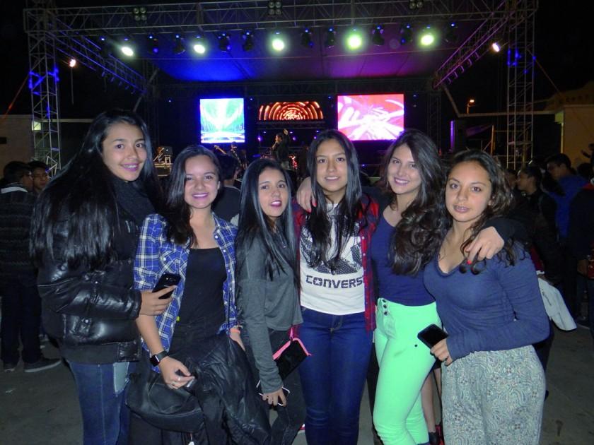 Alejandra, Juliana, Camila, Marcela, Natalia y Katherine.