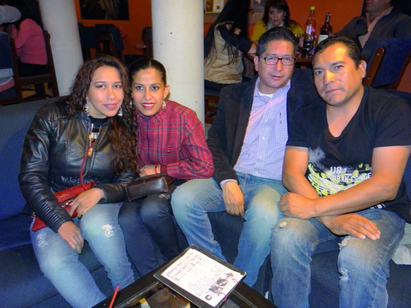 Alejandra Guzmán, Claudia Almendras, Jaime Herrera y Juan Manuel Lía.