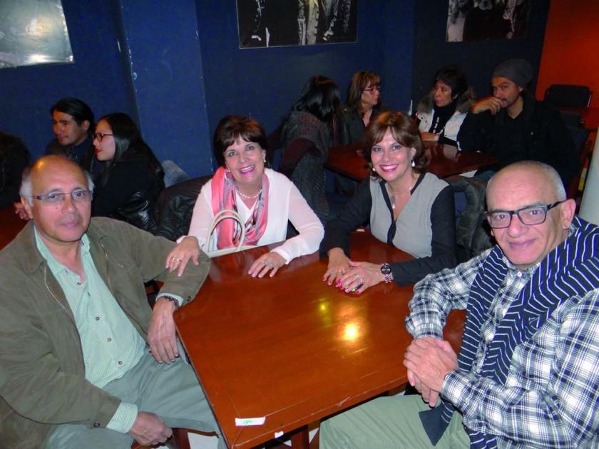 Gustavo Torres, Rosario Rodríguez, Elena Rodríguez  y Juan Carlos Sabat.