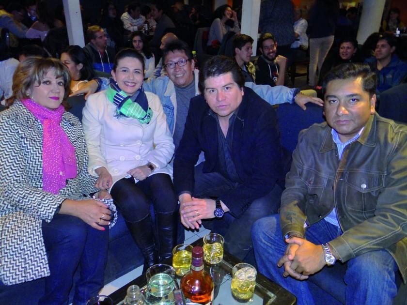 Sonia Tonelli, Gabriela Maldonado, Rilberth Mendieta, Gonzalo Huayllas y Mario Orías.
