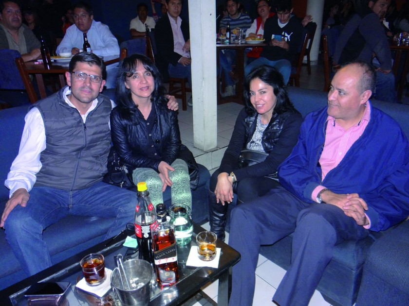 Franco Bohórquez, Ximena Ortiz, Marcela Ortiz y Jorge Zamora.