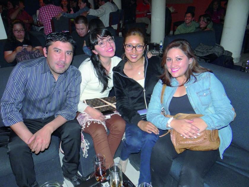 Diego Díaz, Carla Pérez, Paola Cuba y Faviola Banderas.