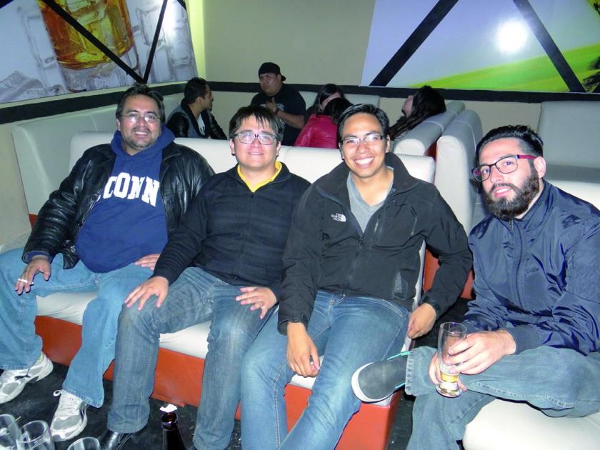 Jairo Rengel, Mauricio Flores, Miguel Fernández y Max Rasguido.