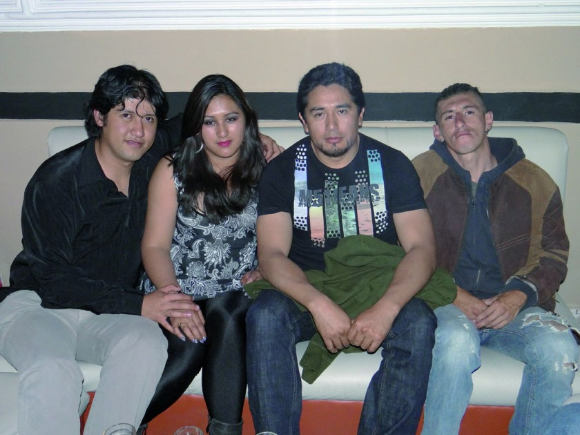 Miguel La Fuente, Jesica Chávez, Edgar Claure  y Rodrigo Loayza.