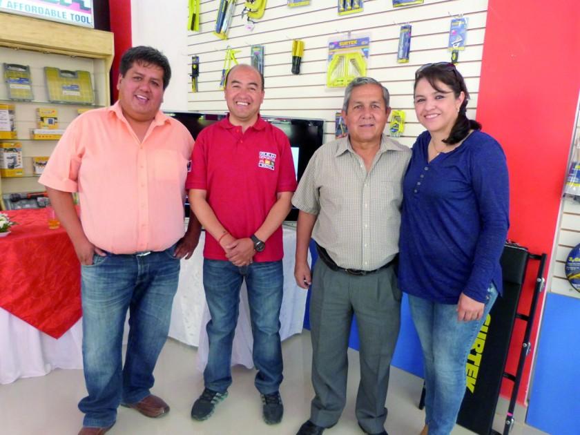 Marcelo Arancibia, Manuel Coronado, Rolando Domínguez  y Claudia Siles.