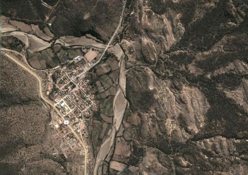 La violación se habría producido en una comunidad de Tomina. Foto: Google Maps
