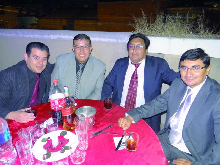 Mauricio Poppe, Orlando Gutiérrez, Ángelo Flores y Jaime Ledezma.