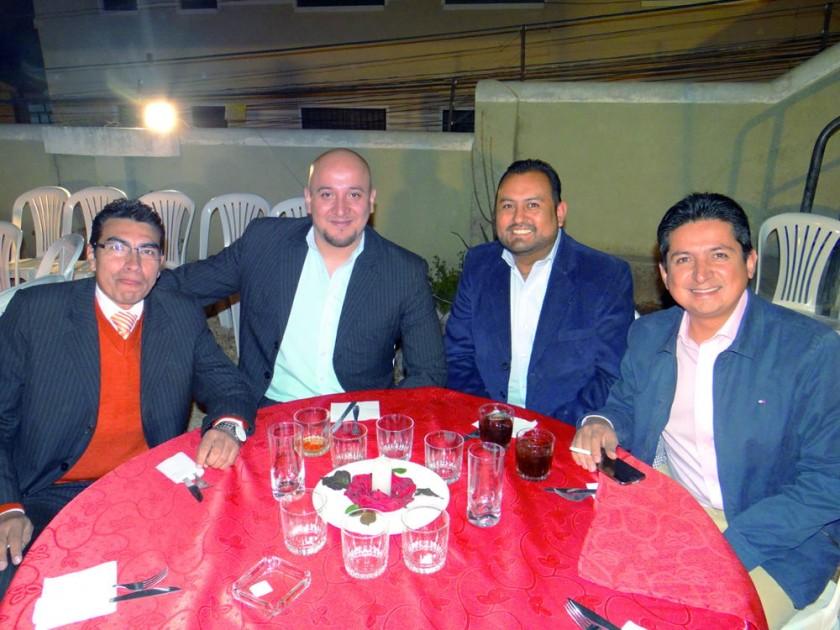 Marco Arciénega, Henry Oro, Yamil Jaimes y Natalio Ruíz.