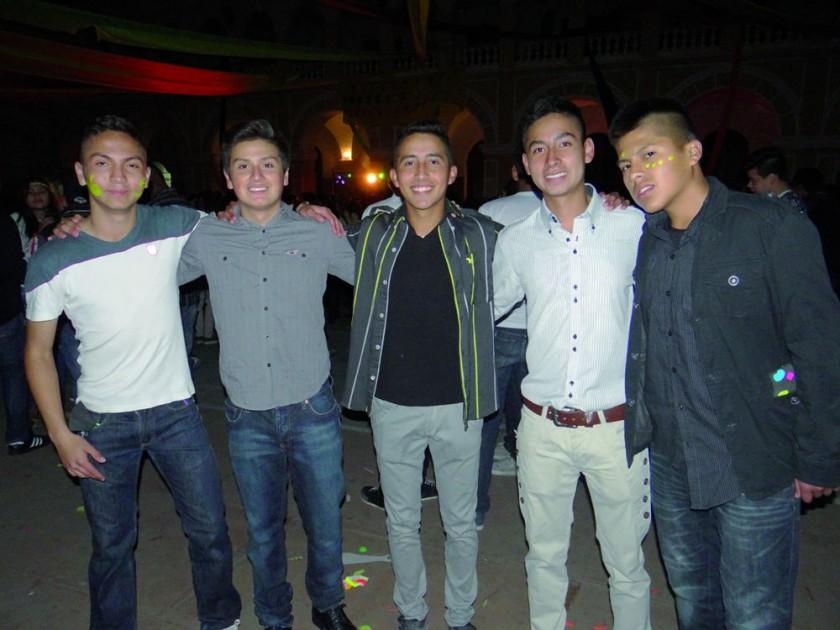 David Guzmán, Sebastián Mancilla, Andrés Romero, Michael Vargas y Jonathan Ortuño.