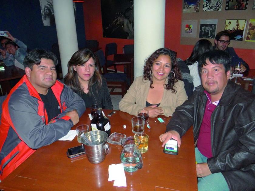 Cosme Quiroga, Tatiana Ortuño, Aldira Barja y Mauricio Saavedra.