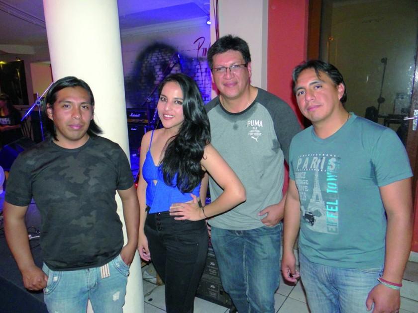 Rodrigo Rojas, Rebeca Gamarra, Gustavo Chavarría y Hugo Soliz.