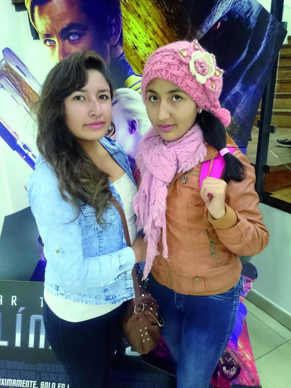 Paola López y Heidy Guerrero.