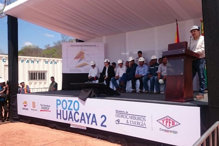 Es acto de inauguración de producción del pozo Huacaya 2. Foto: Álvaro Valdez