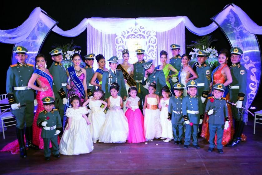 Liceo Militar Teniente Edmundo Andrade, Princesas, Reina Aztir I, floristas,  pajes de honor y la Miss Chiquitita 2016,
