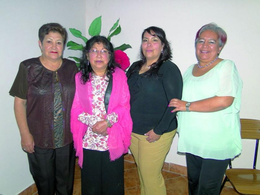 Mercedes Campuzano, María Luz Vargas, Marlene Cazas  y Juaneth Gardeazabal.