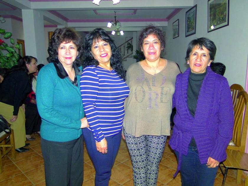 Leslie Buitrago, Sandra Meleán, Virginia Luján  y Susana Acebey.