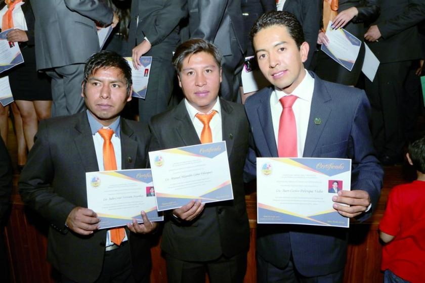 Julio César Ventura, Manuel Luna y Juan Palenque.