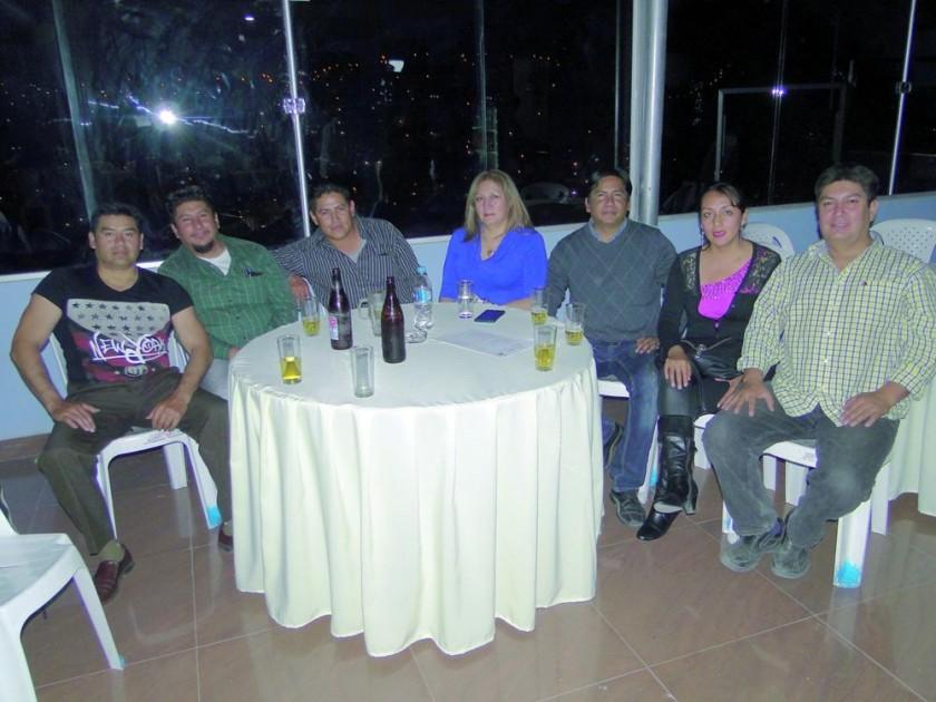 Diego Mejía, Gustavo Prado, Marco Baspineiro, Carmen Rodríguez, Israel Torres, Gabriela Párraga y Milo Prado.