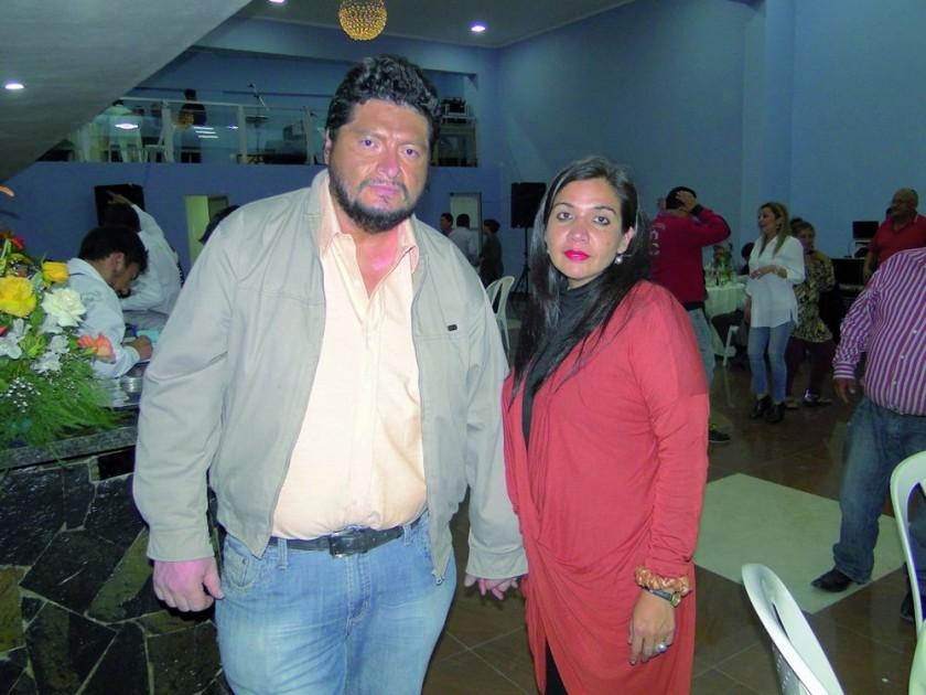 Eddy Valverde y Alejandra Sandoval.