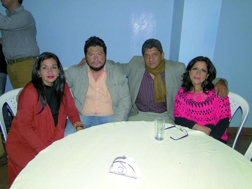 Alejandra Sandoval, Eddy Valverde, Giovanni Valverde y Roxana Caballero.
