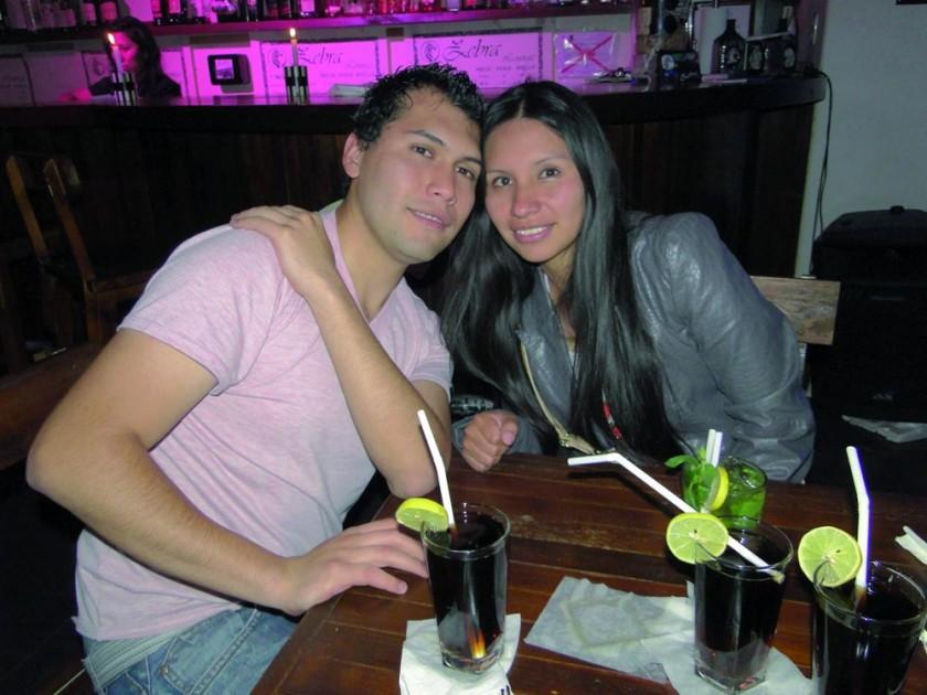Fabricio Rivero y Paola Colque.