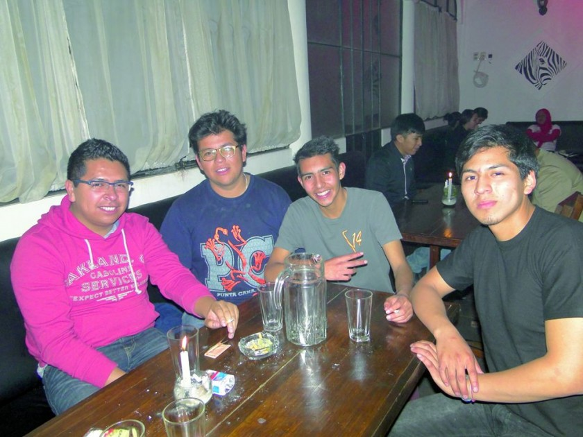 Henry Pereira, Daniel Toro, Jimmy Toro y Gerónimo Olorio.