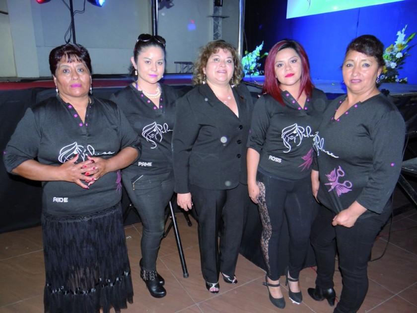 Ayde Jurado, Pamela Inchausti, María Ema Imaná, María Rocha y Rocío Ríos.