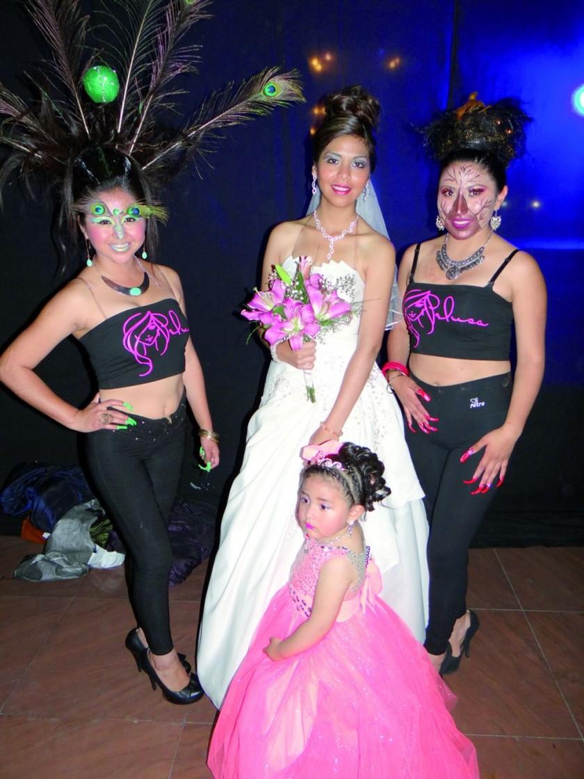 Michele Lescano, Brenda Serrano, Claudia Rojas y Alexia Huari Romero.