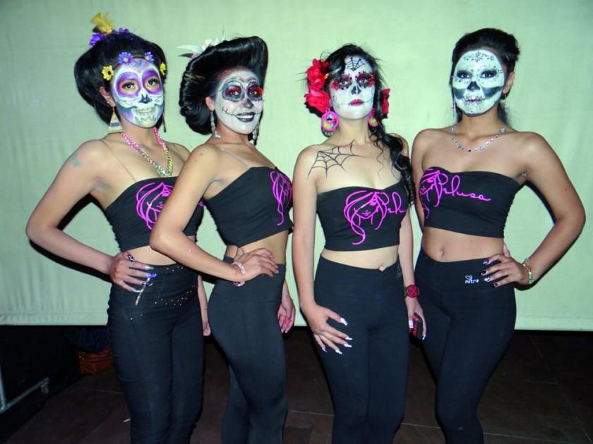Kimberly Hinojosa, Cinthia Zegarra, Isabel Cabral y Laura Salazar.