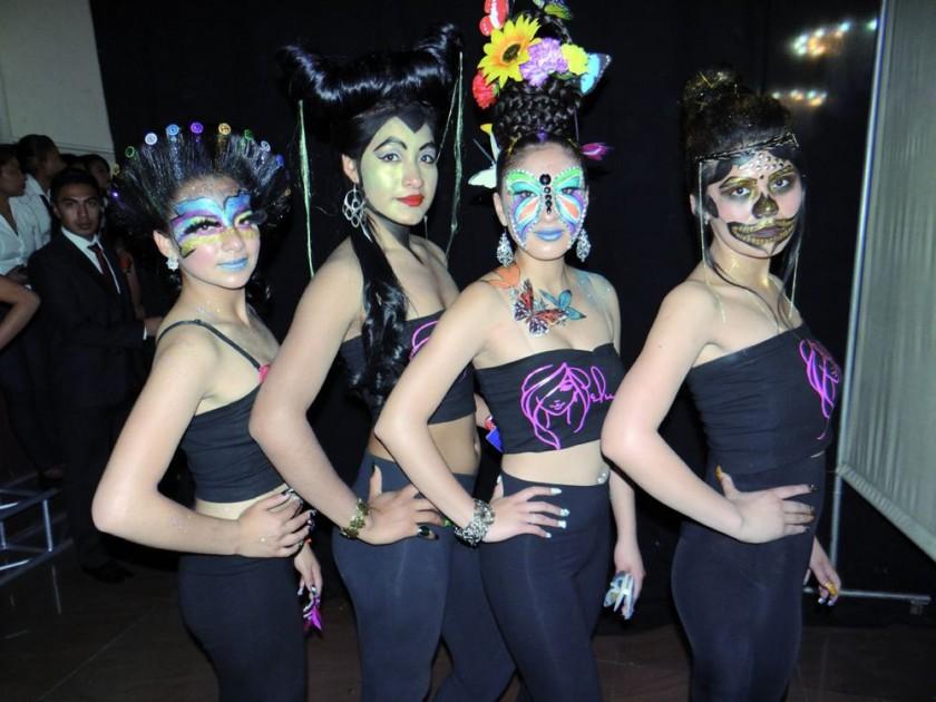 Natalia Ortuste, Ludmila Serrudo, Katherine Ramírez y Aleida Barja.