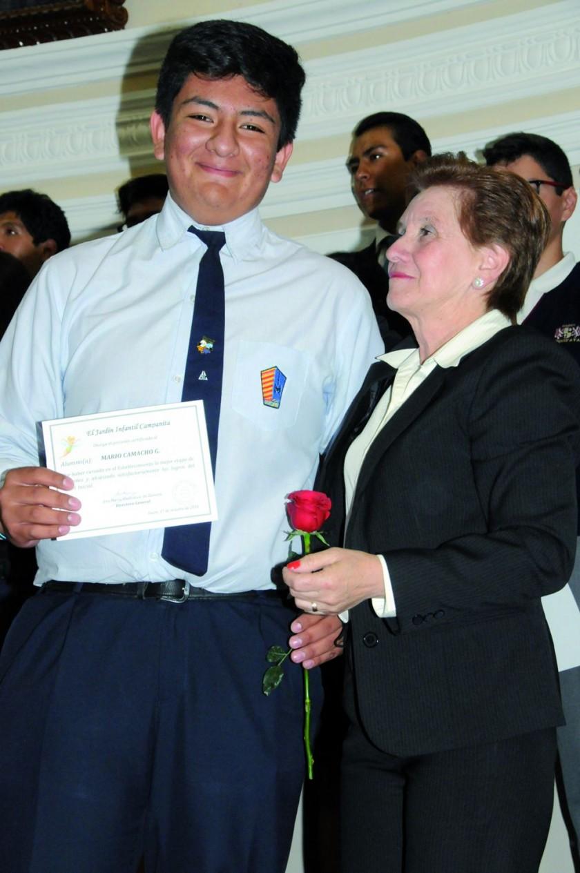 Mario Camacho y María René Torricos.