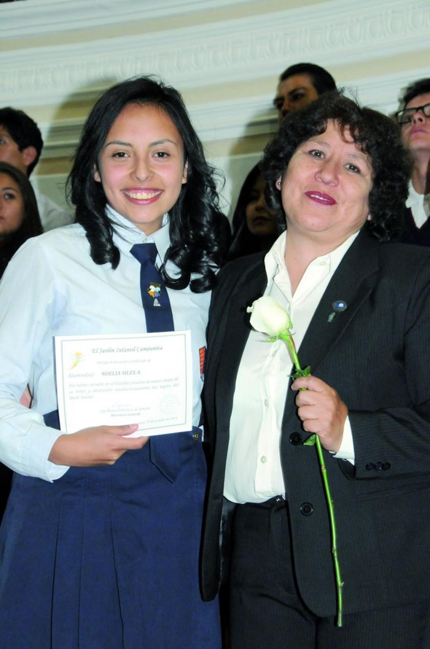 Noelia Siles  y Silvia Sandy.