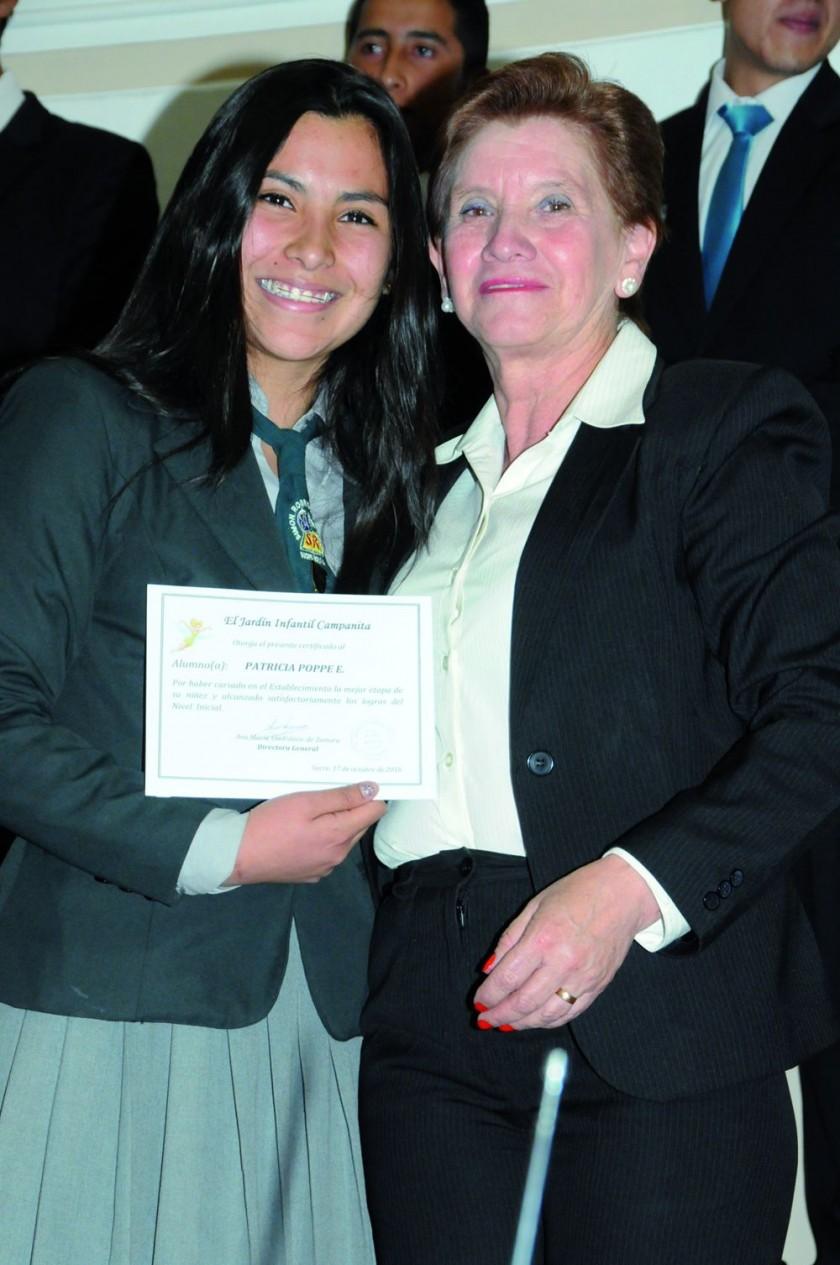 Patricia Poppe  y María René Torricos.