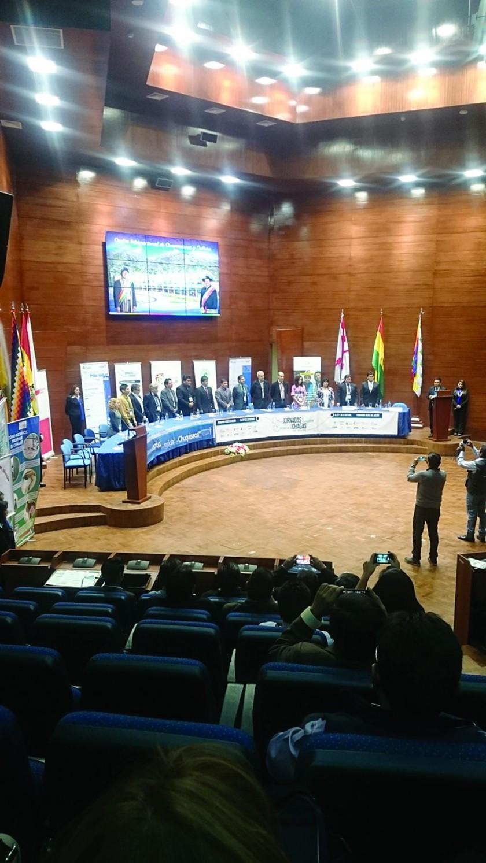 JORNADAS. El evento se realiza en el Centro Internacional de Convenciones de Sucre.