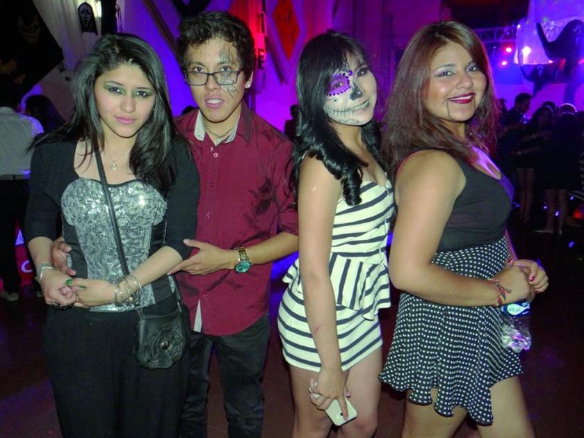 Michel Valdez, Nayer Mendoza, Marcela Montero y Maribel Yupanqui.