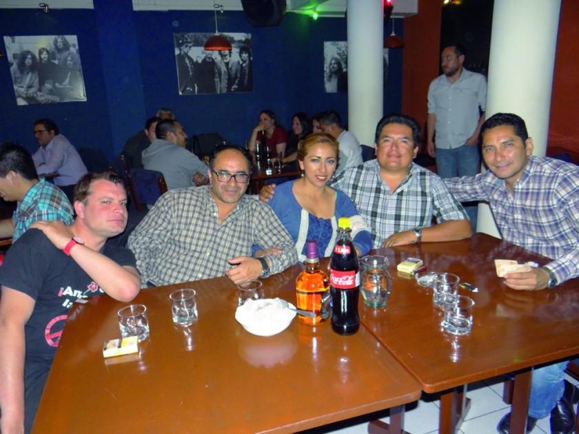 Atzel Soruco, Richard Montoya, Jenny Miranda, Luís Nava  y Ricardo Maldonado.