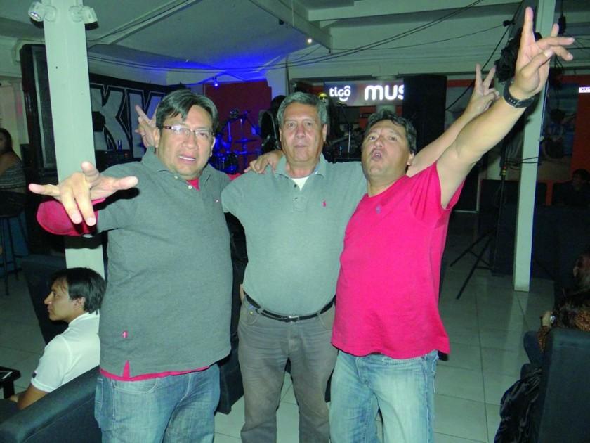Javier Aguirre Milton Coronado  y José Ameller.
